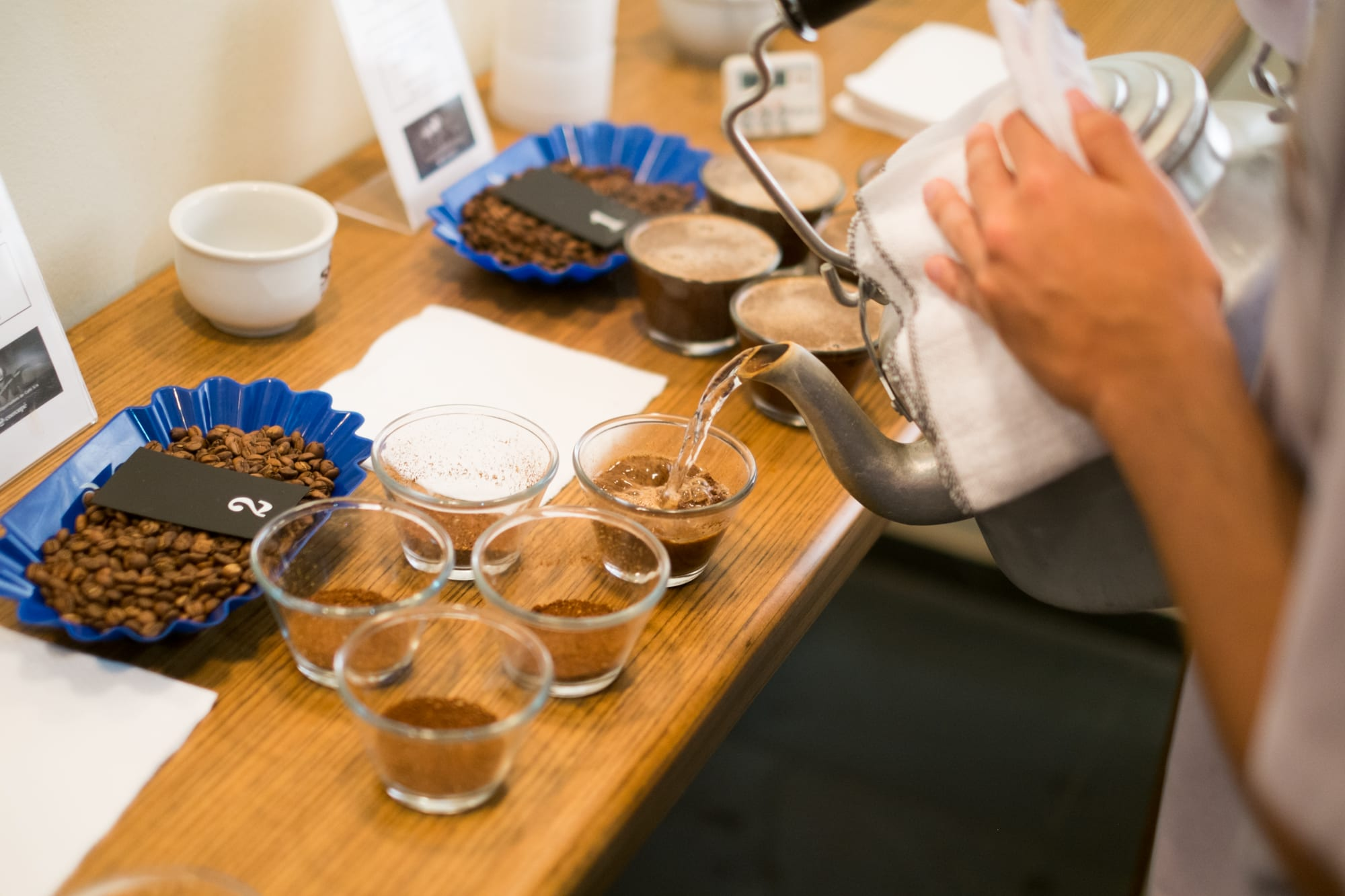 coffee cupping process specialty quality control