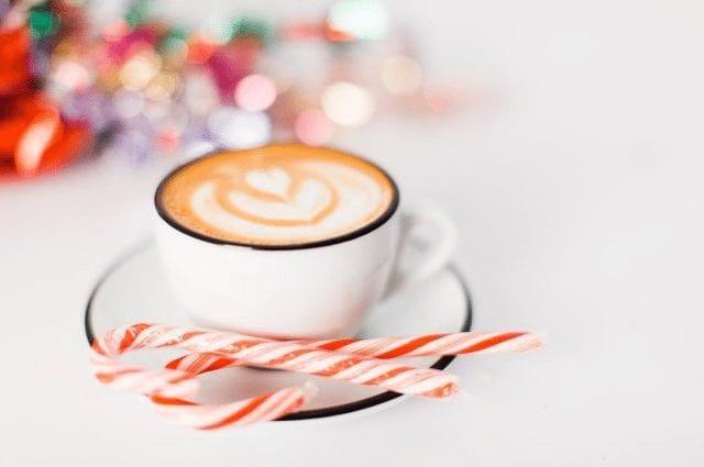 Café latte de navidad