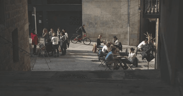 Ciclistas, turistas, estudiantes