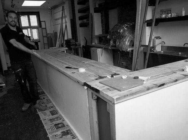 Construyendo tienda de café