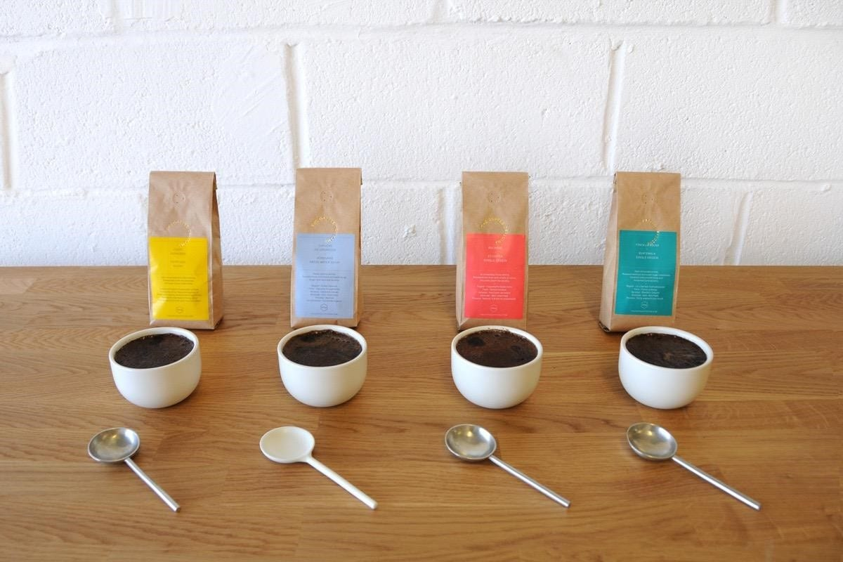 Cupping coffee at the coffee officina