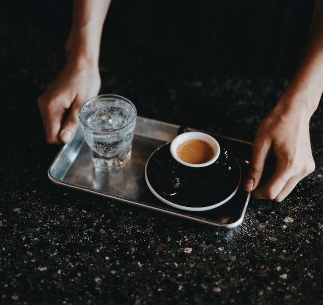 Espresso y agua