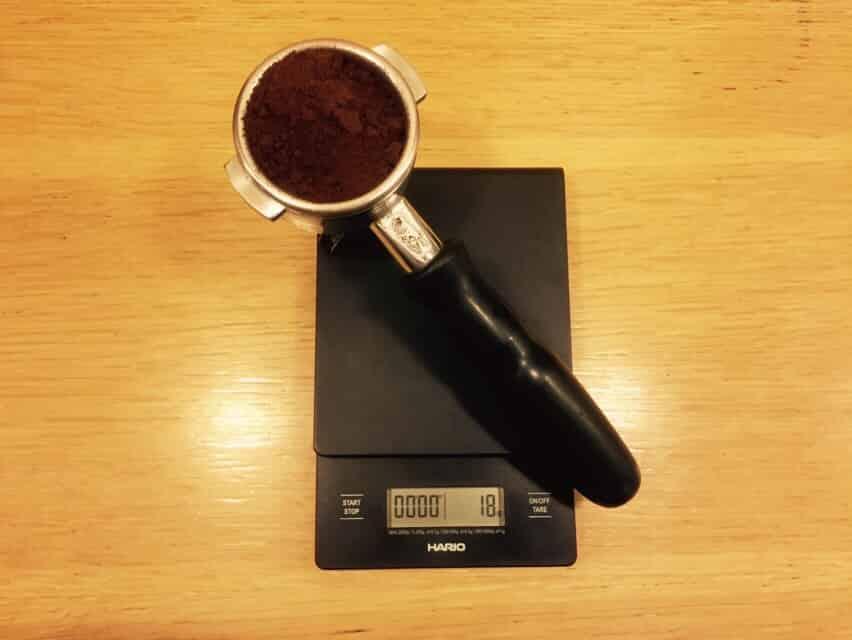 pesando cafe