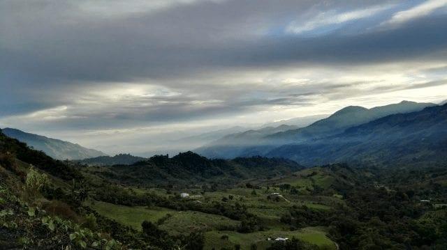 Vista desde una finca en Colombia