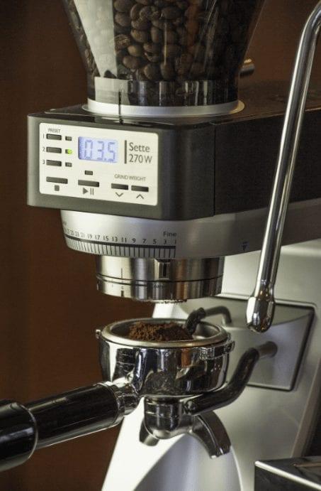 grinding espresso with baratza sette