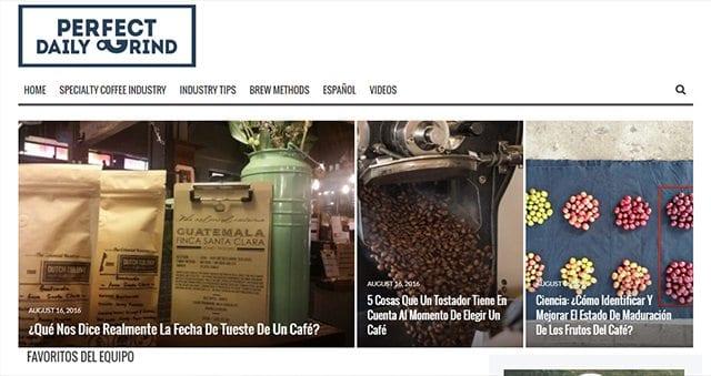 Screenshot of PDG Espanol homepage