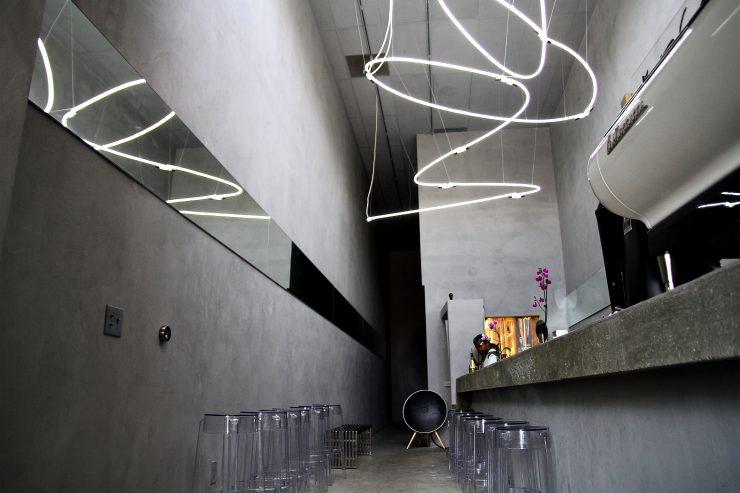 hermoso diseño de una tienda de cafe