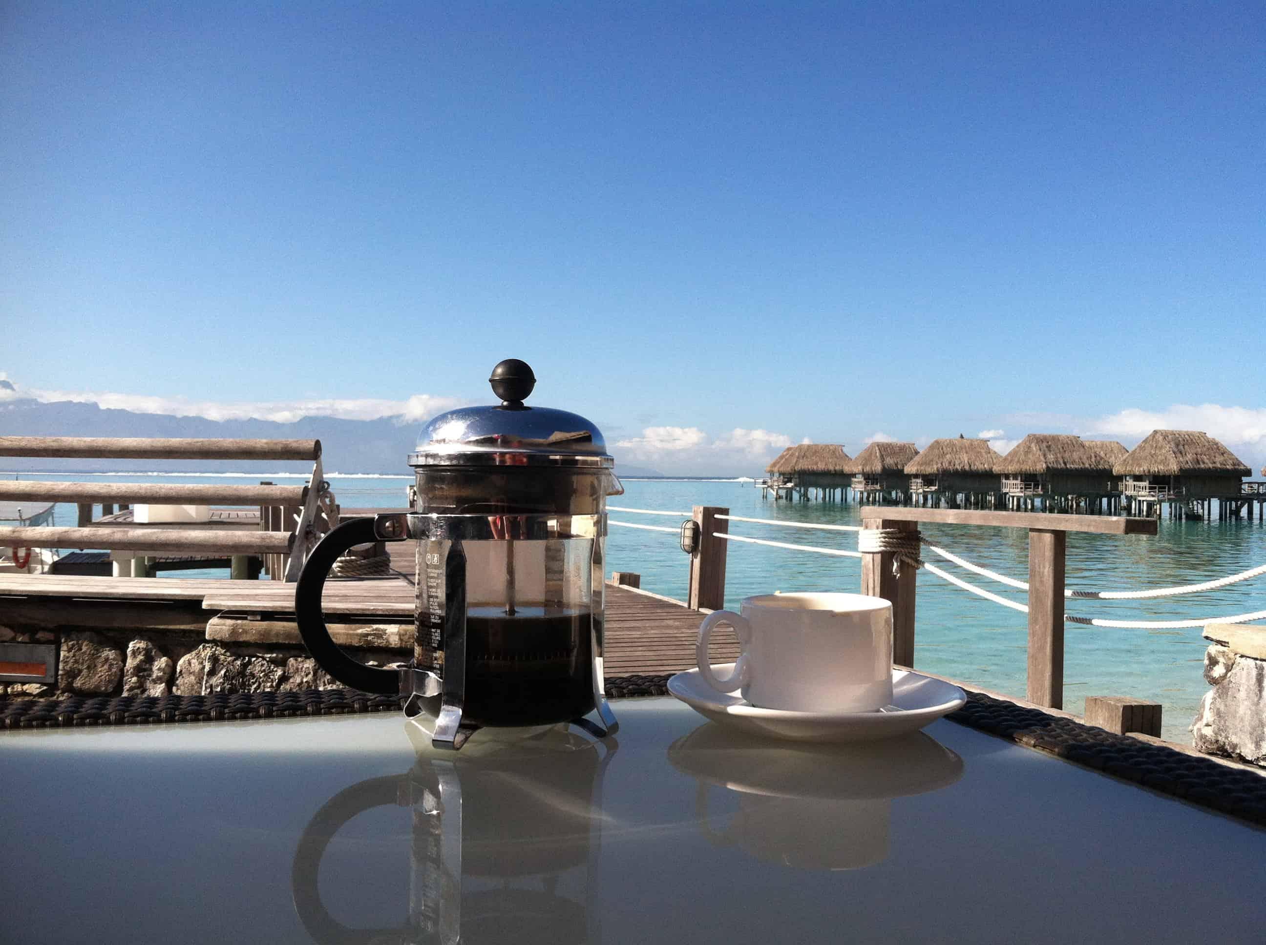 cafe en la playa