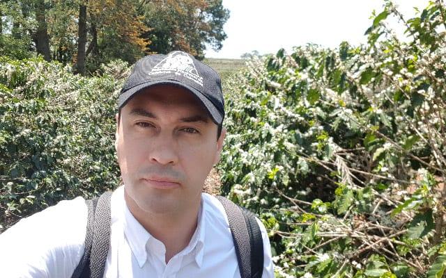 Alvaro Gaitan visiting a coffee farm