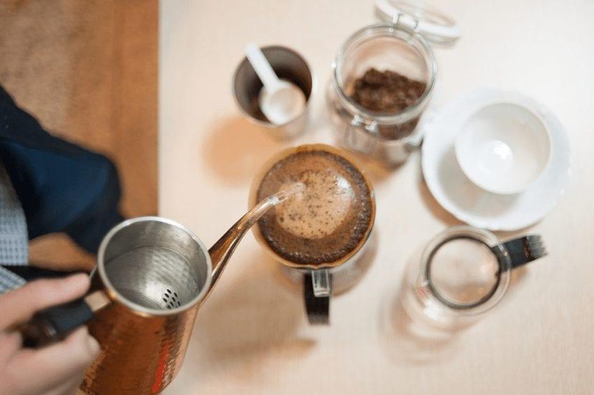 Preparación de café