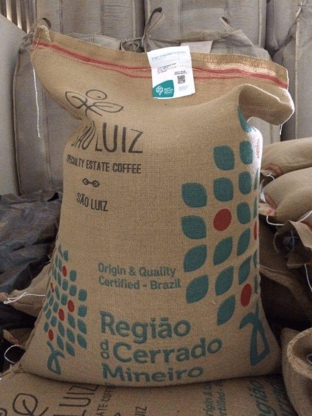 bolsa de café verde Sao Luiz Estate