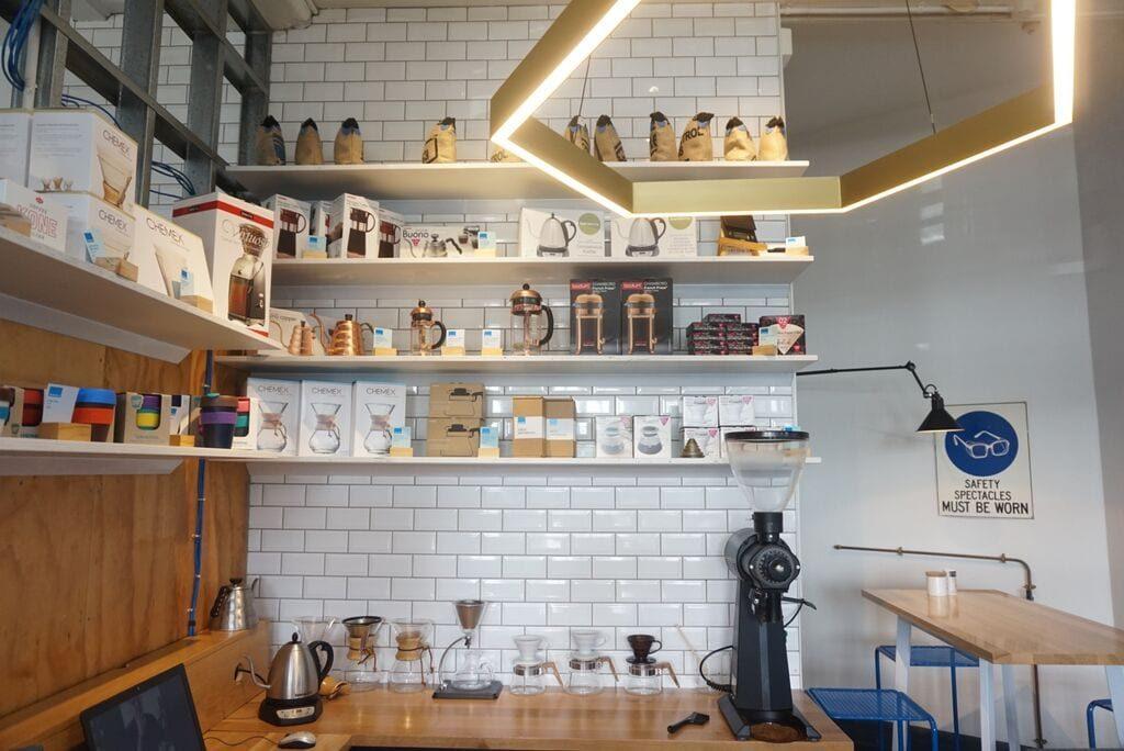 La barra de preparación de cafés