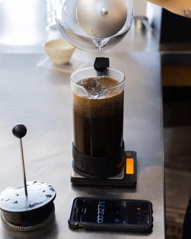 cafe en french press