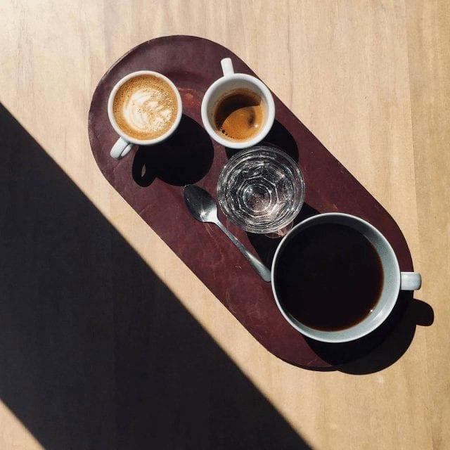 Tres formas del café servidos