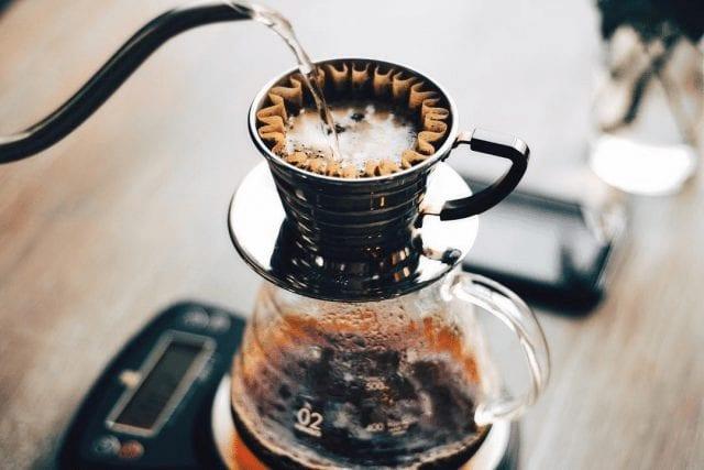 cafe preparado en kalita wave