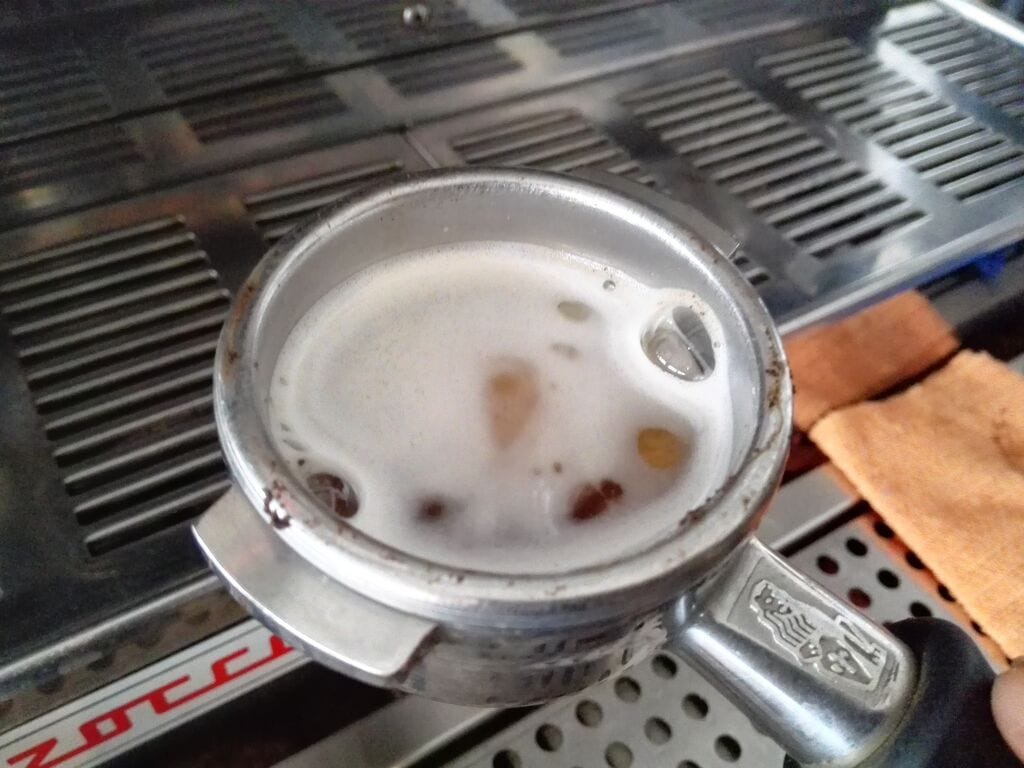 suciedad de maquina de espresso