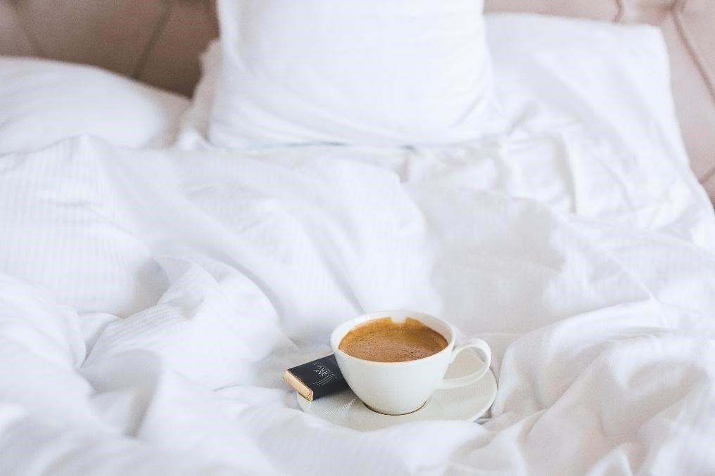 cafe en la cama