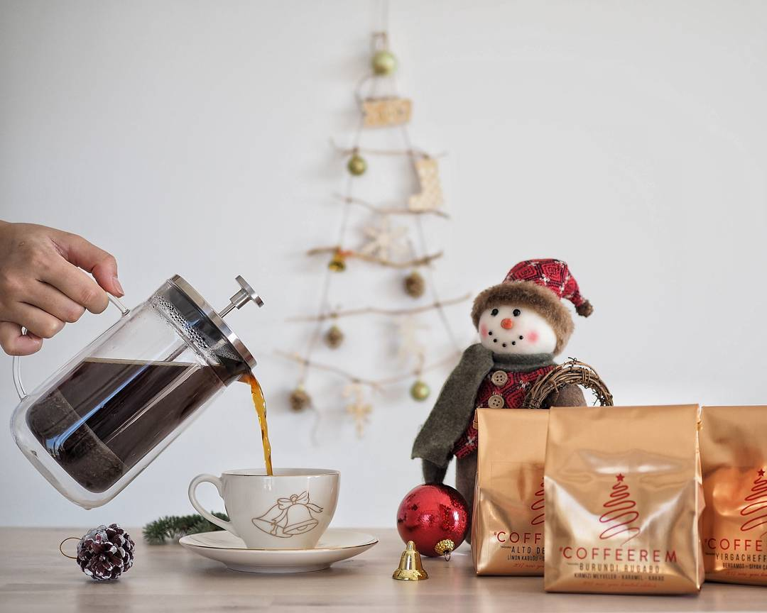 Christmas french press