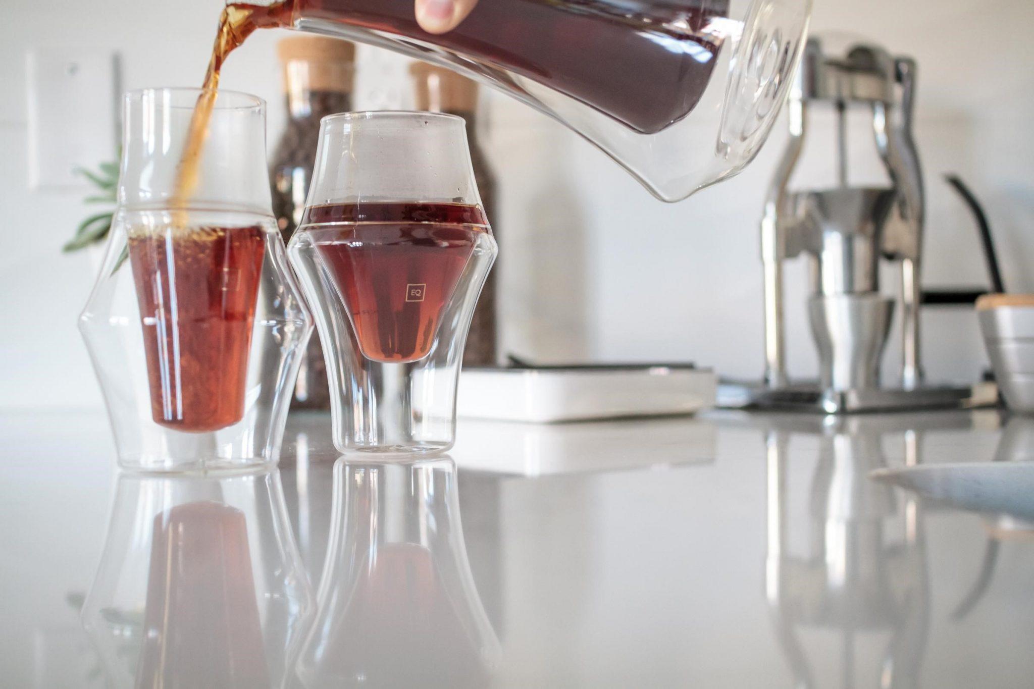 vasos de vidrio para cafe filtrado