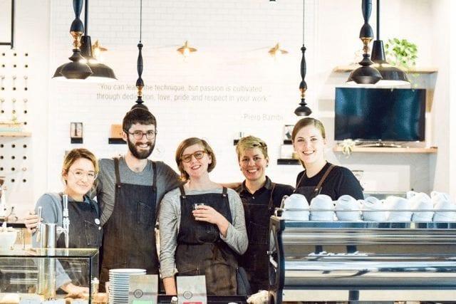 equipo de baristas