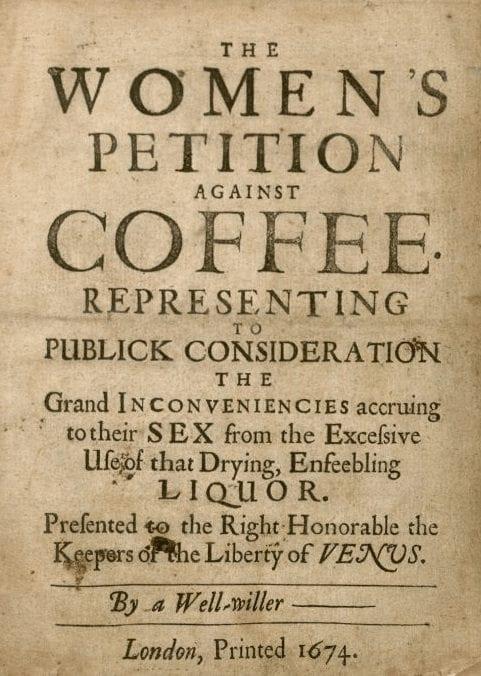 peiticion de mueres contra el cafe