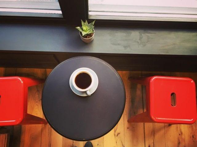 Un cafe vertido Chapada de Brasil