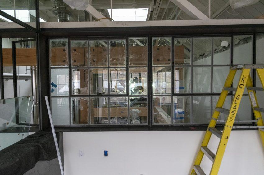 un laboratorio de cafe en construccion