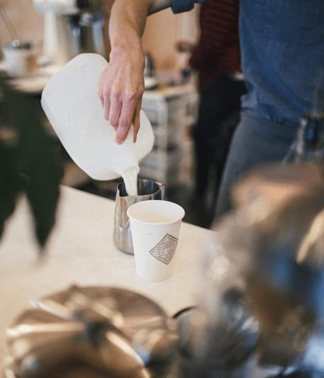 leche para cafe