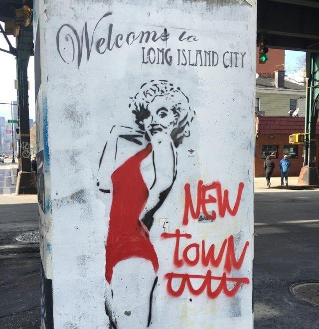 Arte de bienvenida a la ciudad.