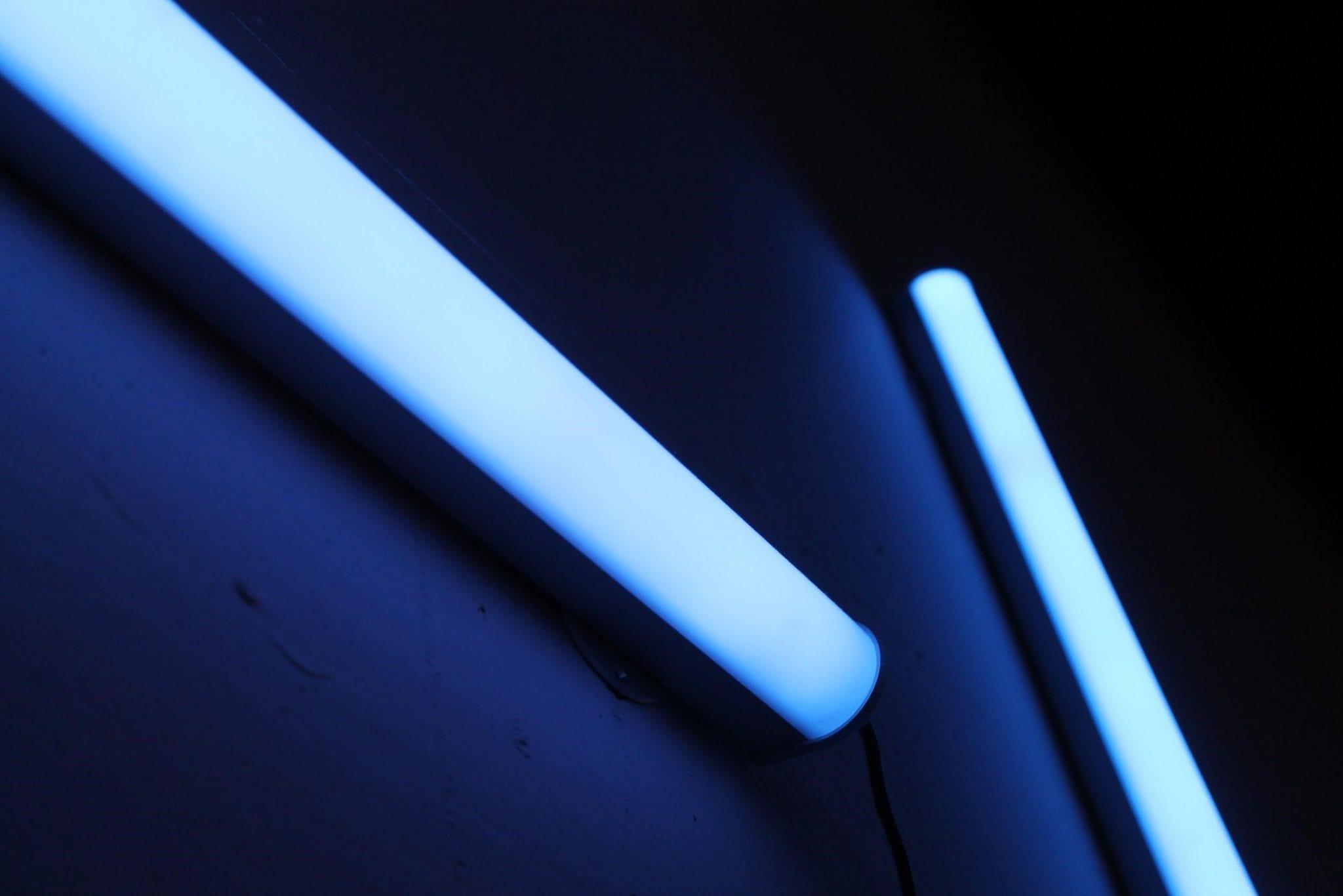luces negras para detectar defectos en el cafe verde