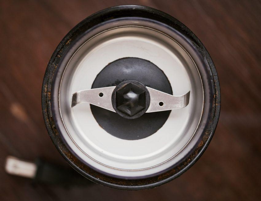 las cuchillas de un molino de cafe
