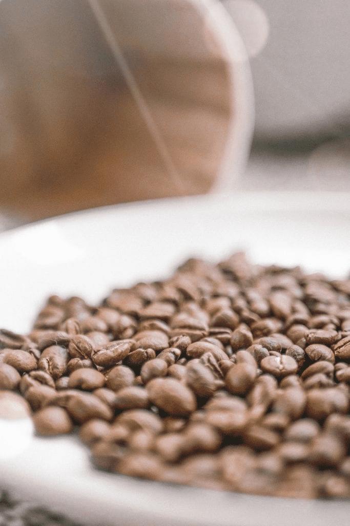 bache de cafe recien tostado