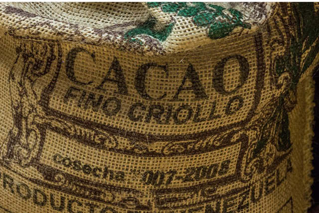 a sack of cocoa ready for export
