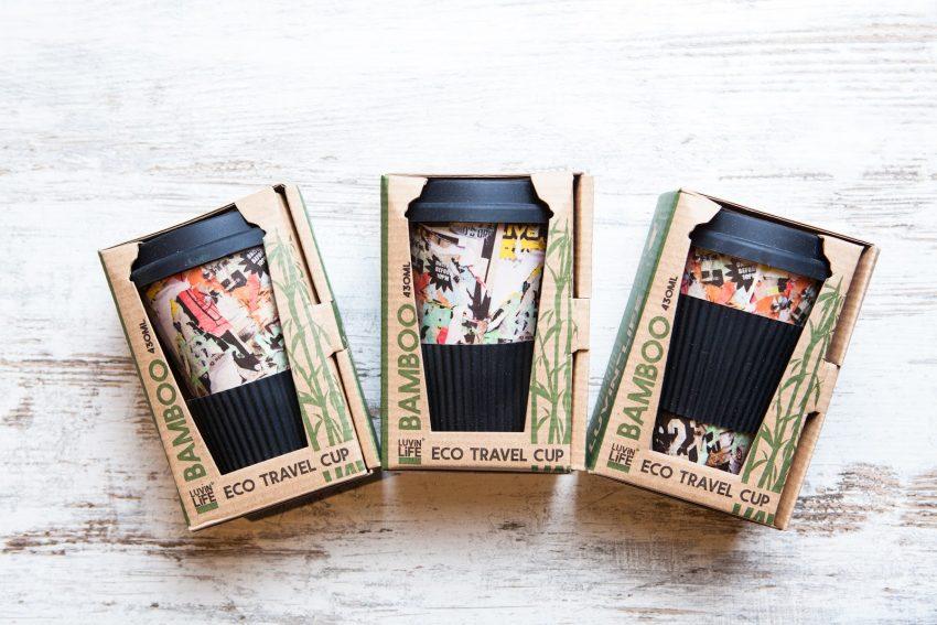 vasos de bambu para cafe