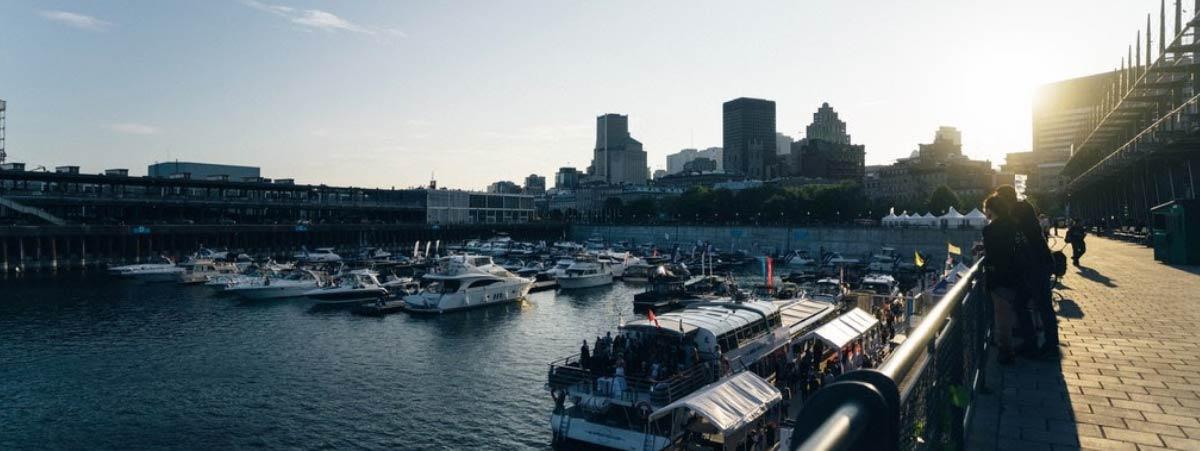Purto de yacht en Montreal