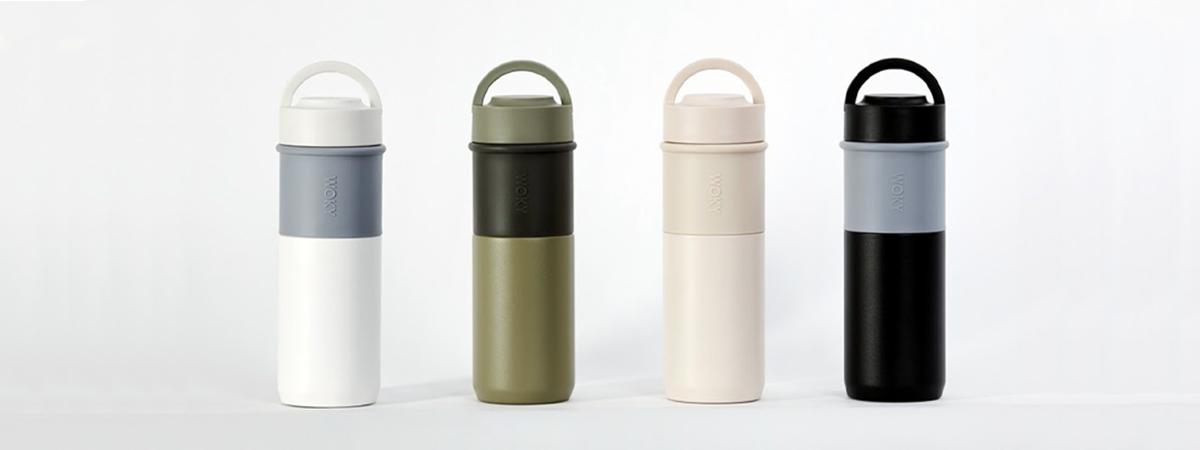Botellas reutilizables en varios colores