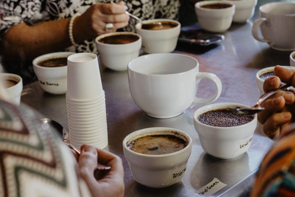 cata en subasta internacional de café