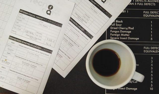 formulário de avaliação de café