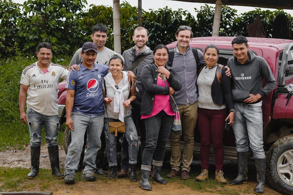 grupo de compradores de café na colombia