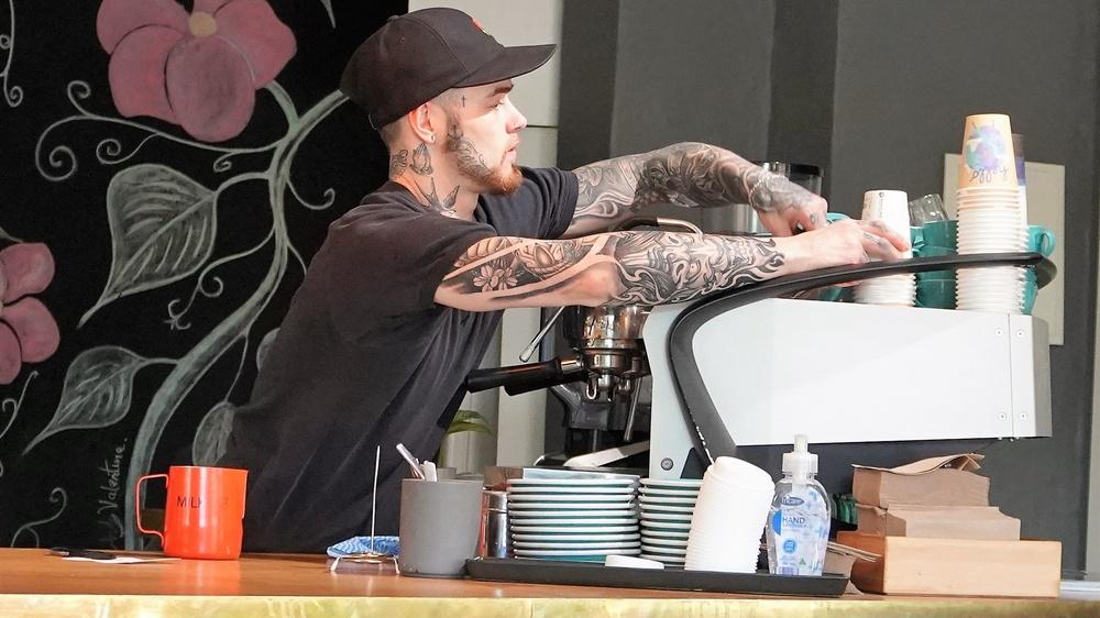 experiência do cliente de café