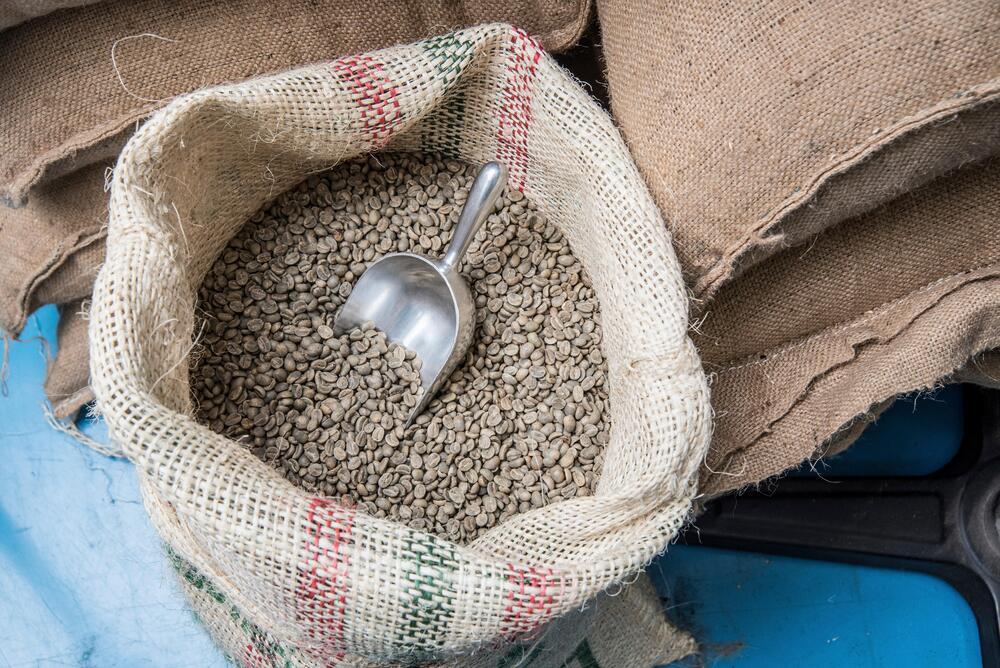 comércio de café verde