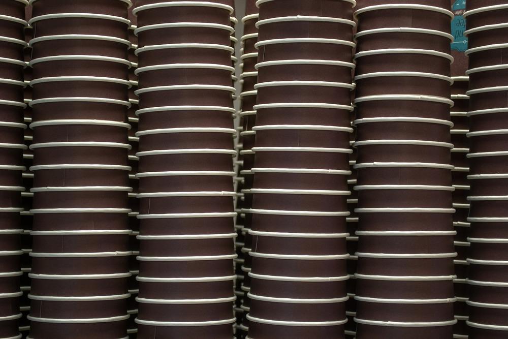 copo de café descartável