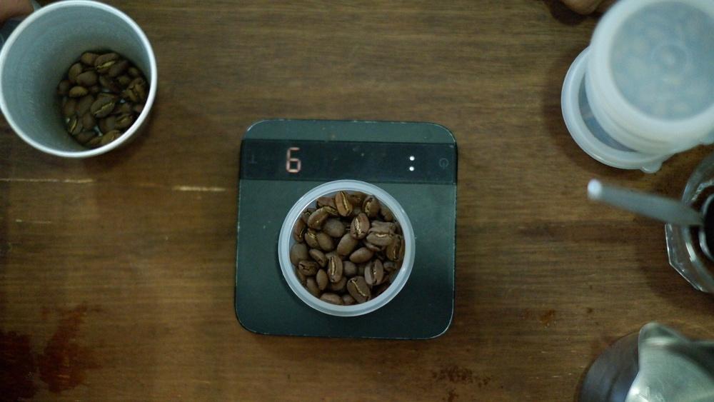balança café