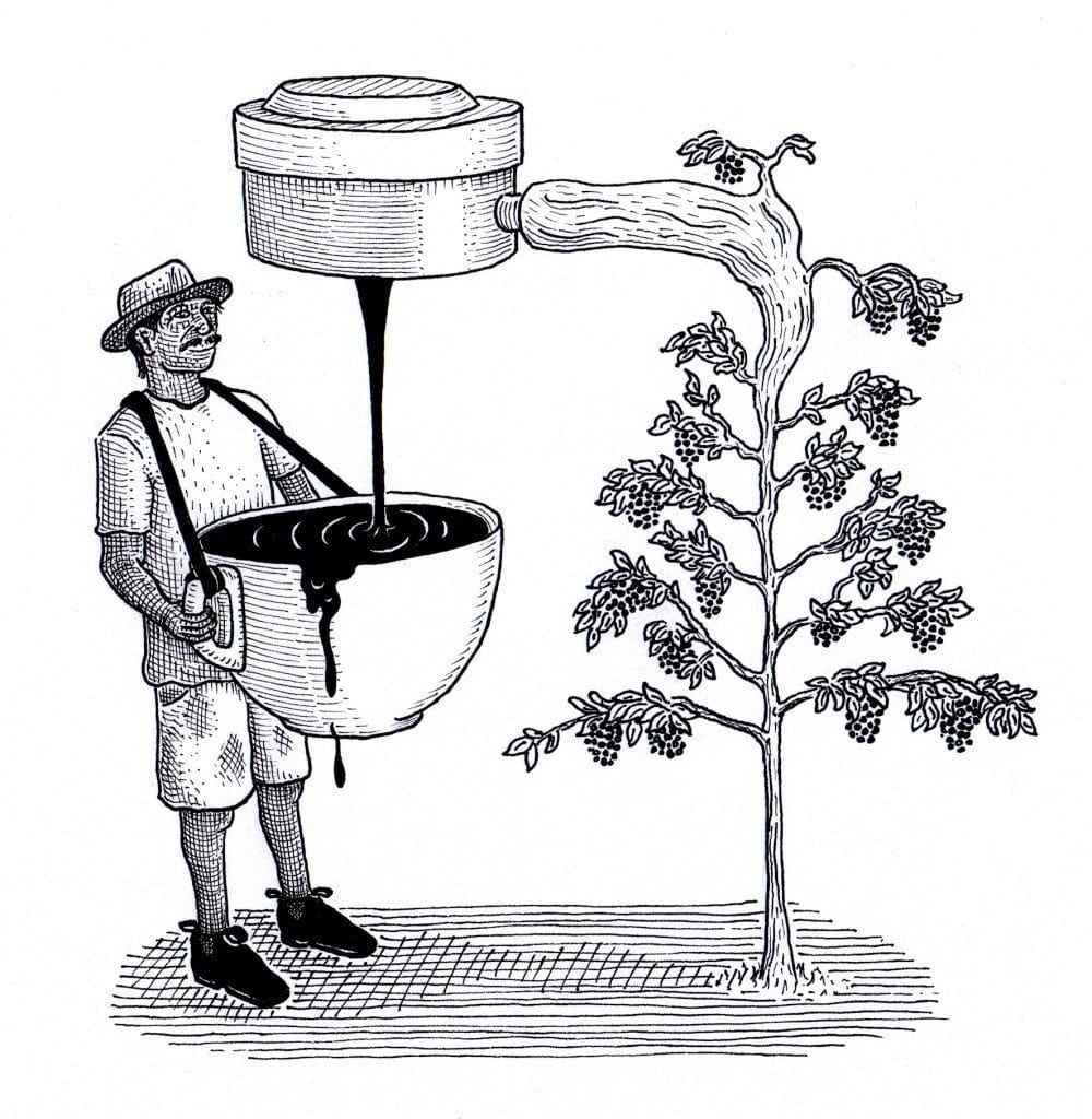 coffee extraction cartoon