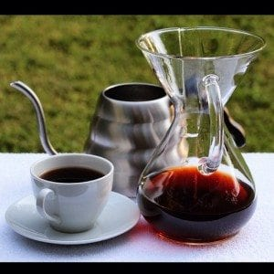 Brewed chemex coffee