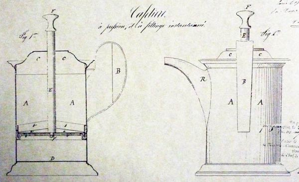 The very first French press. Mayer and Delforge 1852