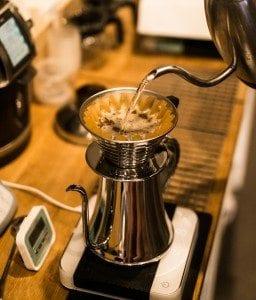 Kalita Wave coffee being brewed