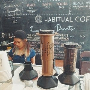 The First Place AeroPress Trophy of Kaye Ong in Habitual Coffee