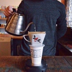 Coffee brewed by a Bonmac pro cone
