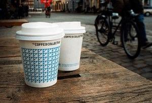 Coffee Collective cups in Copenhagen, Denmark